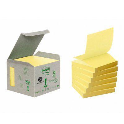 Post-it Recycled Z-Notes Yellow 6 block 76 mm x 76 mm