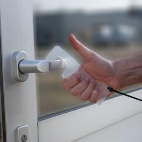 Dörröppnare handsfree, med rem, 4/fp