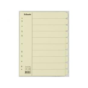 Skilleblad ESSELTE A410-delt manilla