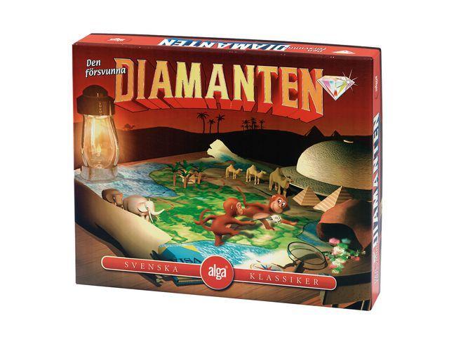 Den Försvunna Diamanten, Alga sällskapsspel