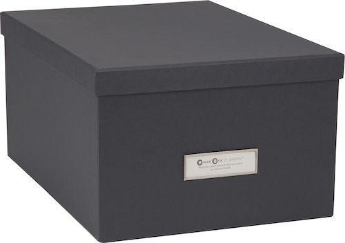 Förvaringsbox Gustav grå