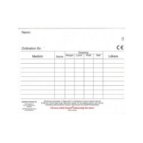 Ordinationskort till Dosett maxi 10/FP