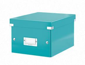 Förvaringslåda Liten Click & Store WOW Isblå, 6st 6st