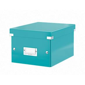 Förvaringslåda Liten Click & Store WOW Isblå, 6st