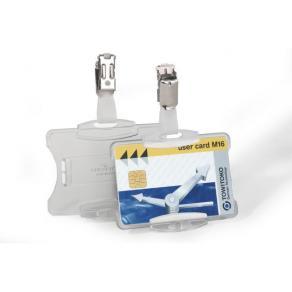 Korthållare DURABLE Transparent med clips, 25/fp