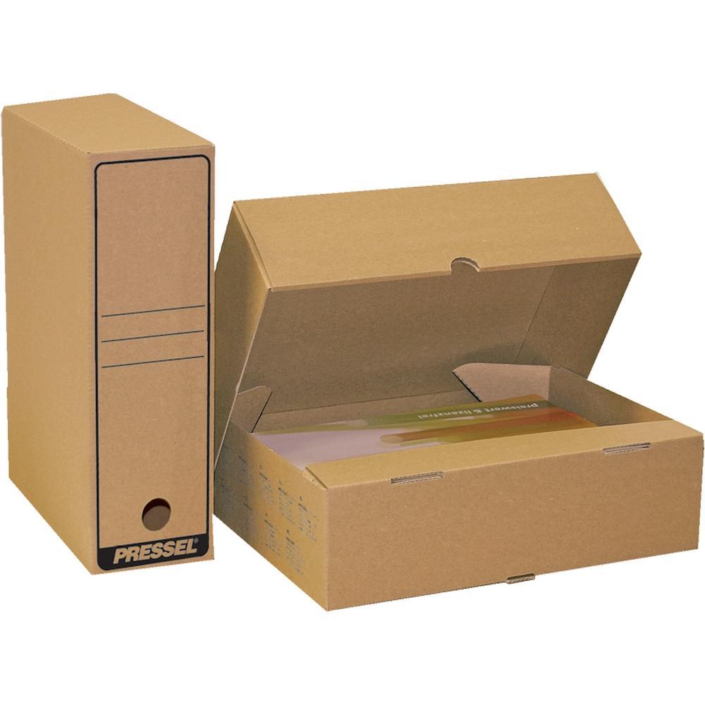 Arkivbox A4 Öppen långsida, 75mm, brun, 20st