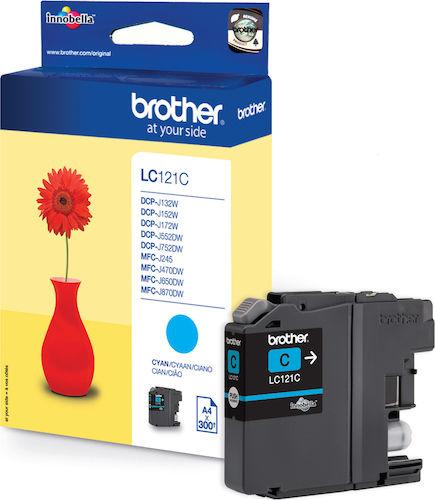 Brother LC121C - Cyan - original - bläckpatron