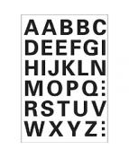 Herma etikett bokstäver A-Z 15mm svart
