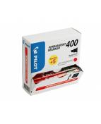 Marker Permanent 400 snedskuren spets Value Pack röd (20)