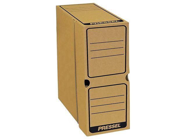 Arkivbox A4 topp öppning 100mm, brun, 20st