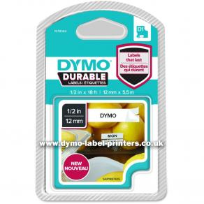 Tape DYMO Durable D1 12mm Svart på Vit