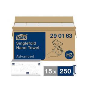 Pappershandduk TORK Singlefold Advanced H3 3750/FP