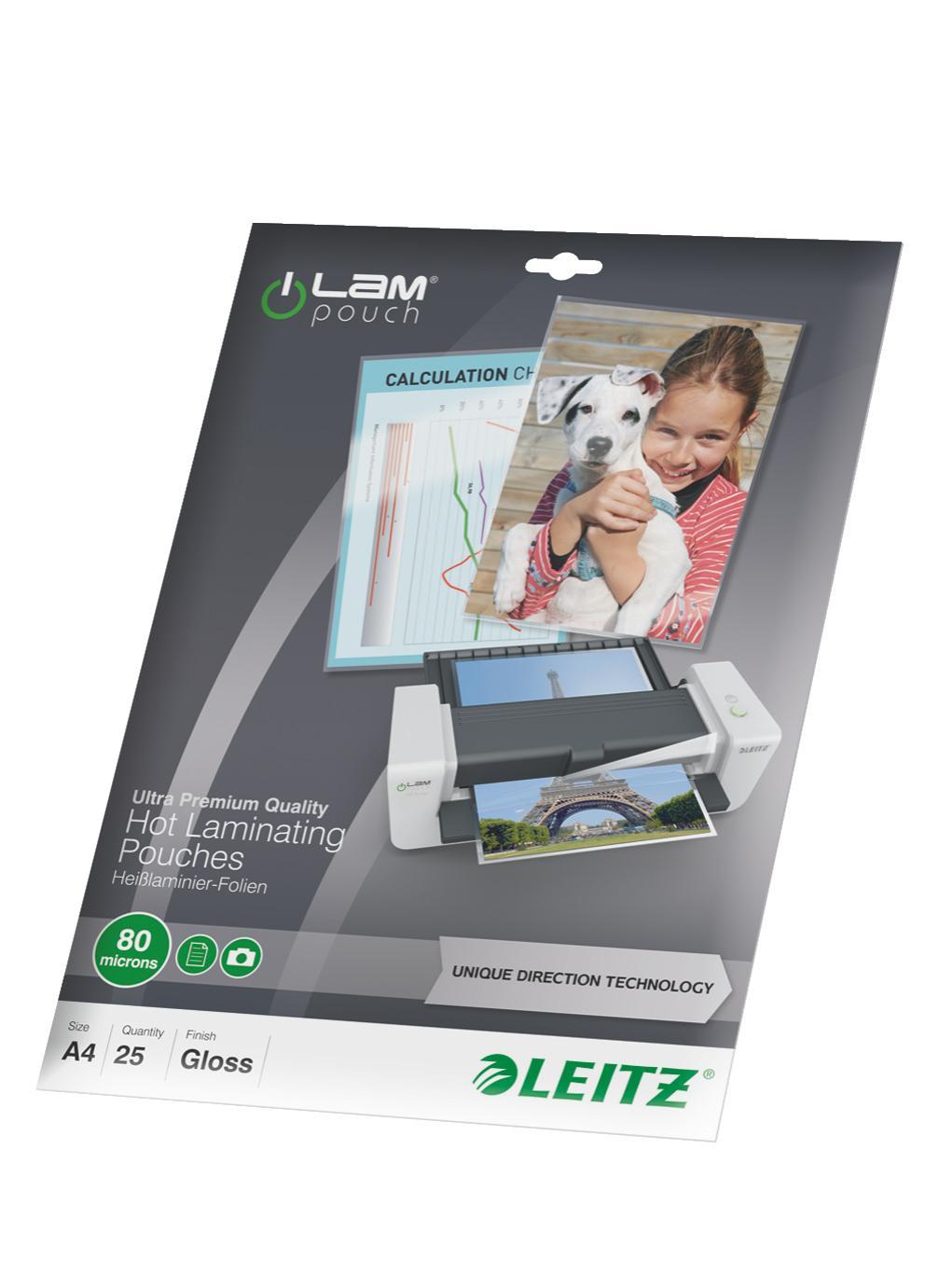 Laminat LEITZ A4 UDT 80 mic. 25/FP