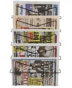 Tidningsställ 5-fack svart