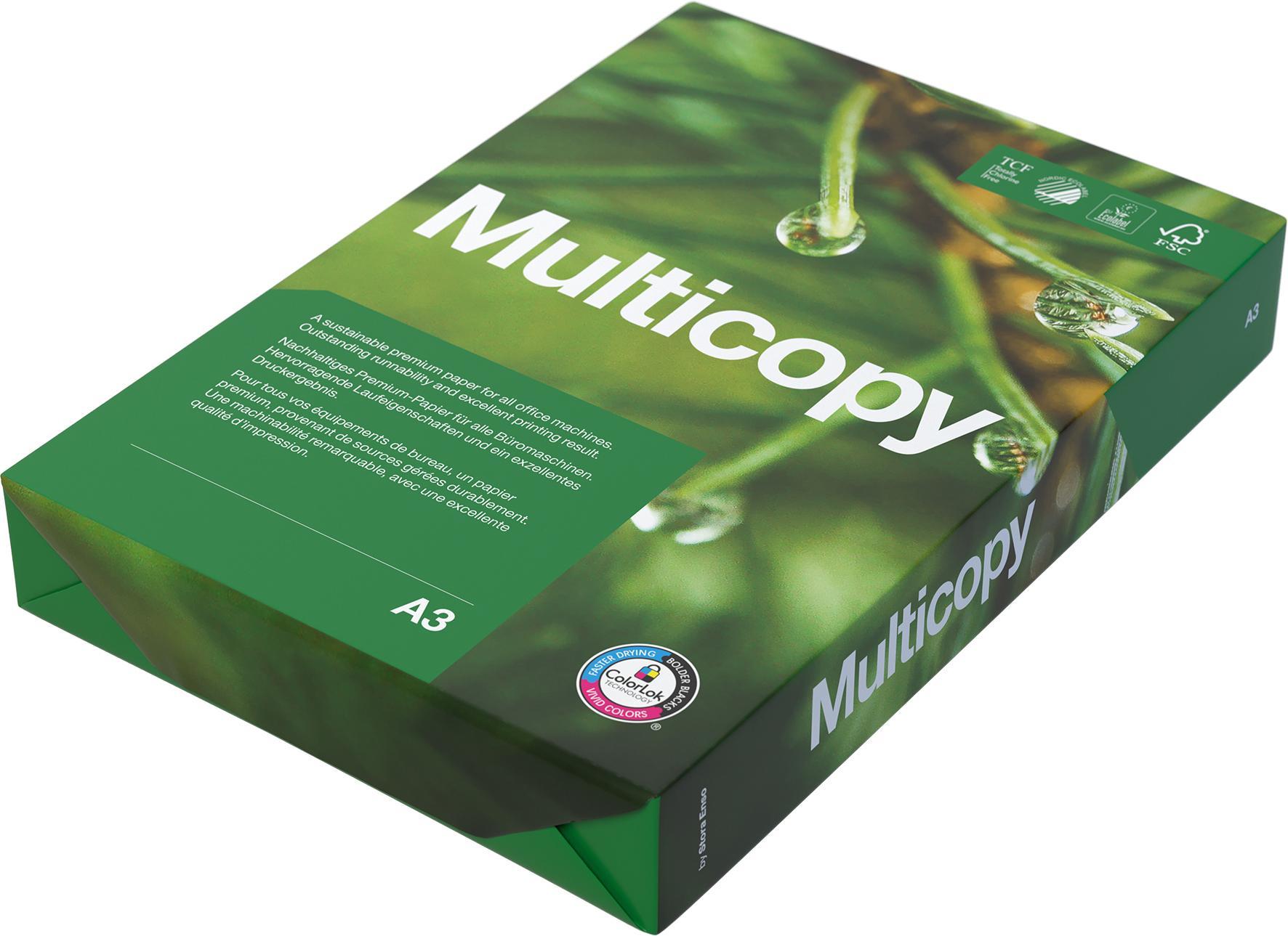 Kopieringspapper MultiCopy A3 OHÅLAT 80g 500st/paket