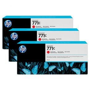 HP 771C - 3-pack - 775 ml - kromröd - original