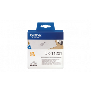 Etiketter BROTHER Adress Universal DK-11201, 90x29mm, 400/rl