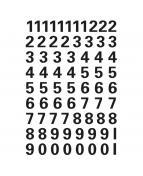 Herma etikett siffror 0-9 10mm svart