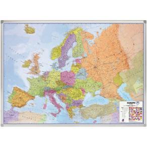 Skrivtavla Karta Europa Legamaster, magnetisk, 100x137cm